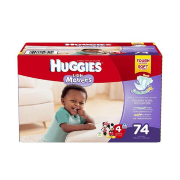 Huggies Little Movers Stage 4 22-37 lb - 74 CT