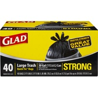Glad Quick-Tie Strong Large 30 Gallon Trash Bags