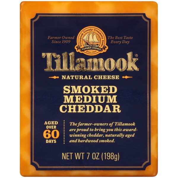 Tillamook Smoked Medium Cheddar Natural Cheese