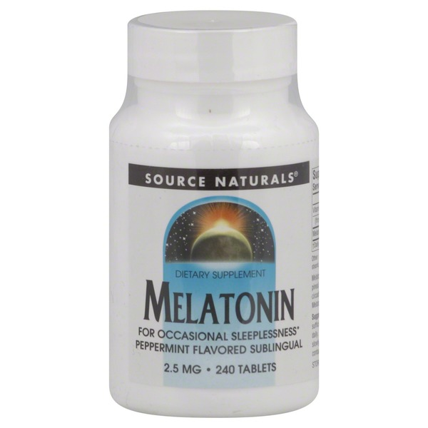 Source Naturals Melatonin Peppermint Flavored Sublingual 2.5 Mg