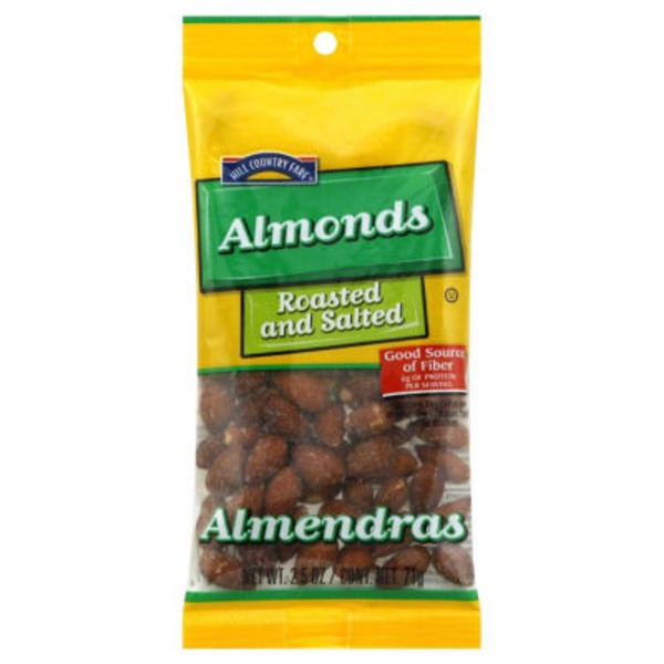 Hill Country Fare Roasted And Salted Almonds