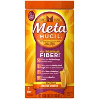 Metamucil Smooth Metamucil Psyllium Fiber Supplement by Meta Orange Smooth Sugar Powder 30.4 oz 72 doses Laxative