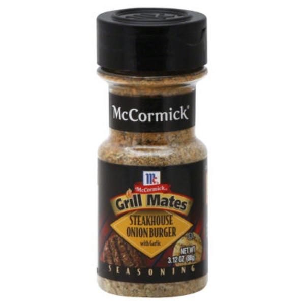 Mccormick Grill Mates Steakhouse Onion Burger with Garlic Seasoning
