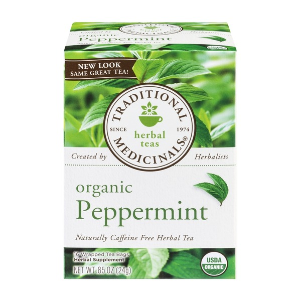 Traditional Medicinals Organic Peppermint Caffeine Free Herbal Teas