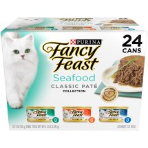 Purina Fancy Feast Classic Seafood Feast Collection Cat Food 24-3 oz. Cans