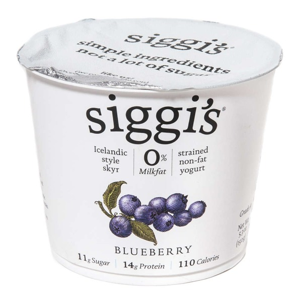 Siggi's Icelandic Style Skyr Blueberry Non-fat Yogurt