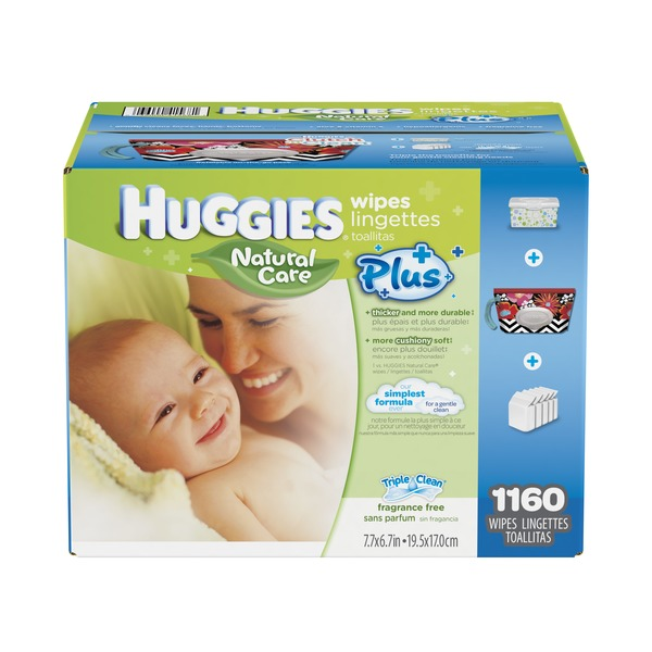 Huggies Natural Care Plus  Baby Wipes