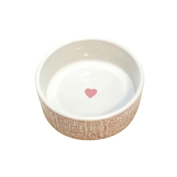 Harmony Love Ceramic 1 Cup Cat Bowl