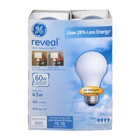 General Electric Reveal Bulb 60w - 4 CT