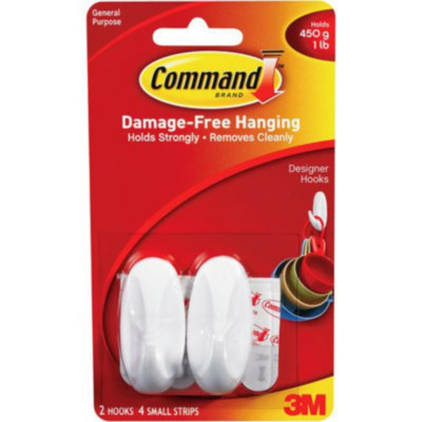 3M Command Damage-Free Hanging Small Designer Hooks