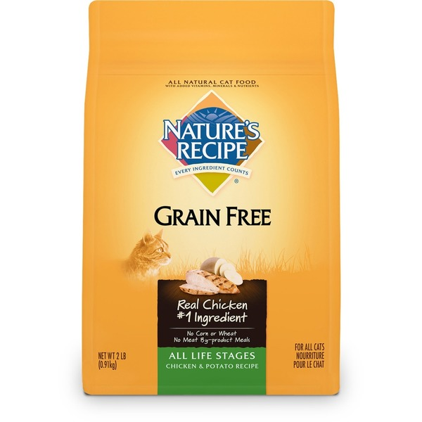 Nature's Recipe Grain Free All Lifestages Chicken & Potato Cat Food 2 Lbs.