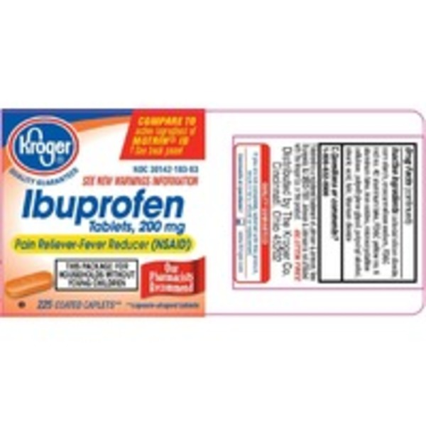 Kroger Ibuprofen Pain Reliever Fever Reducer 200 Mg