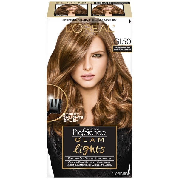 Superior Preference Glam Lights GL50 Medium Brown to Dark Brown Brush-On Glam Highlights