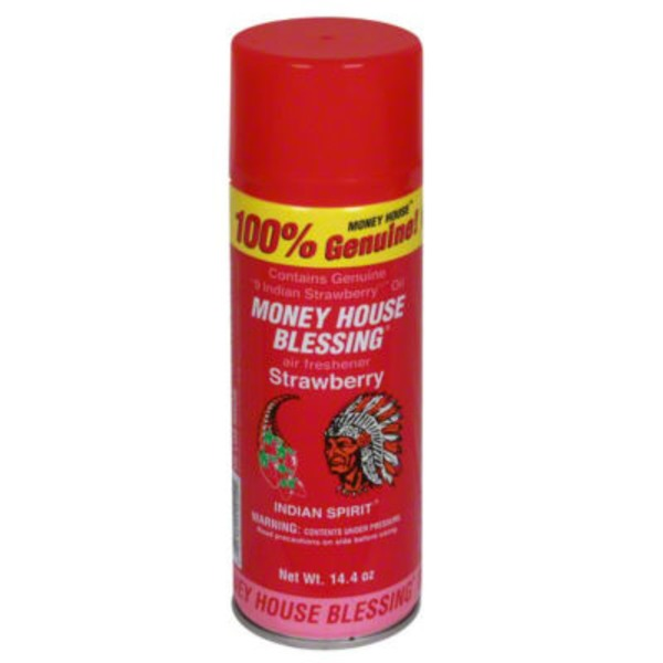 Money House Blessing Indian Spirit Air Freshener Strawberry