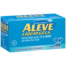 Aleve Liquid Gel, Pain Reliever/Fever Reducer, 80ct