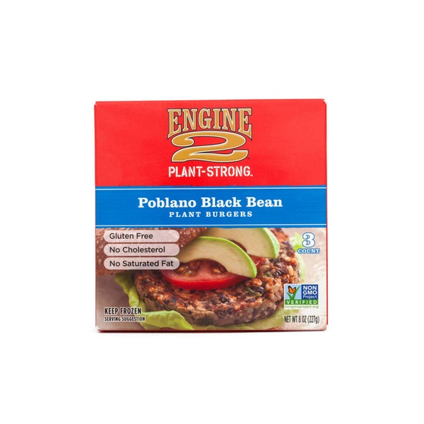 Engine 2 Poblano Black Bean Plant Burgers