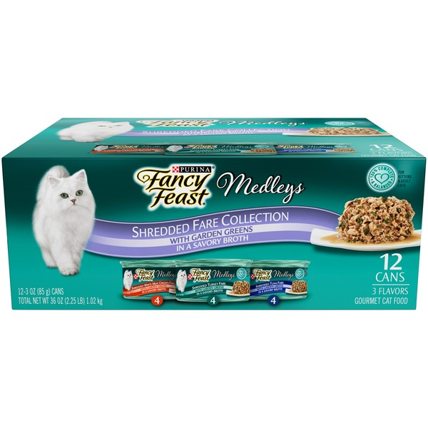 Fancy Feast Medleys Shredded Fare Collection Cat Food