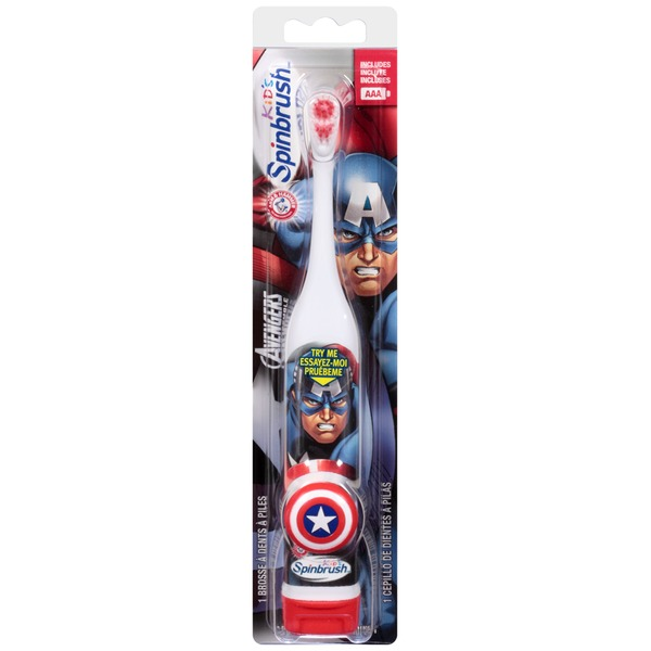 Arm & Hammer Spinbrush Kid's Marvel Avengers Assemble Powered Toothbrush