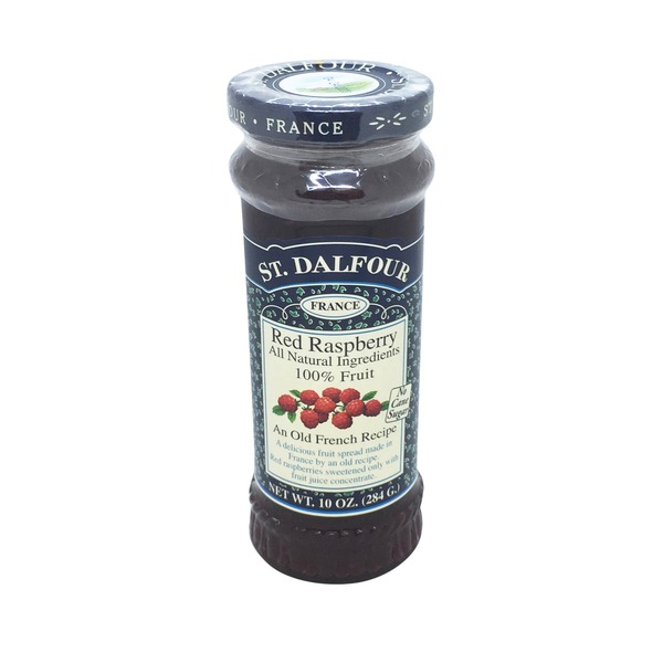 St. Dalfour Fruit Spread, Deluxe, Red Raspberry
