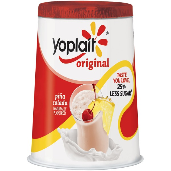 Yoplait Original Pina Colada Low Fat Yogurt