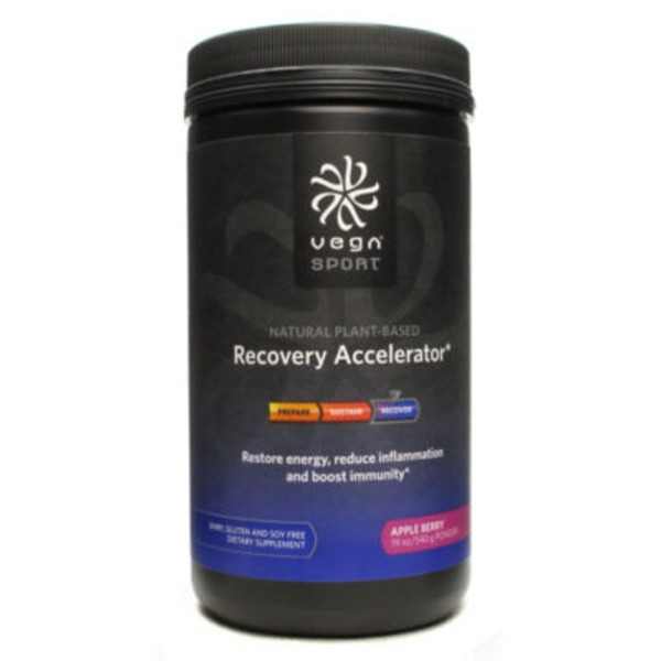 Vega Sport Recovery Accelerator Apple Berry Powder Dietary Supplement