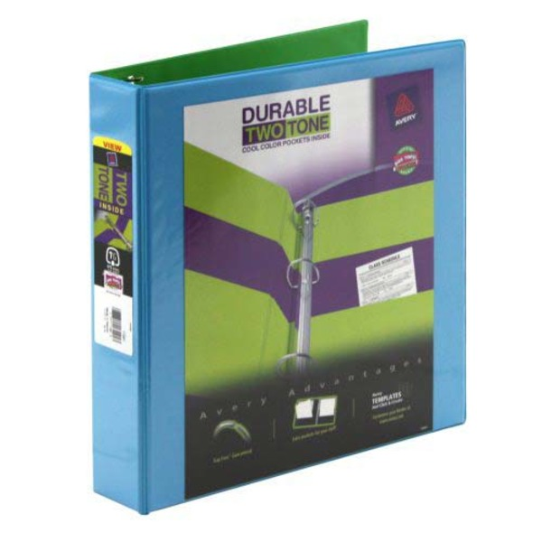 Avery Durable Two Tone 1 Inch Binder