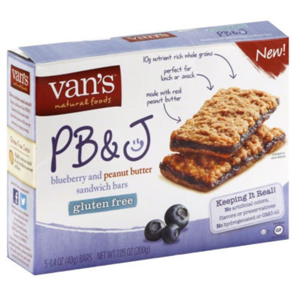 Van's Sandwich Bars PB&J - 5 CT