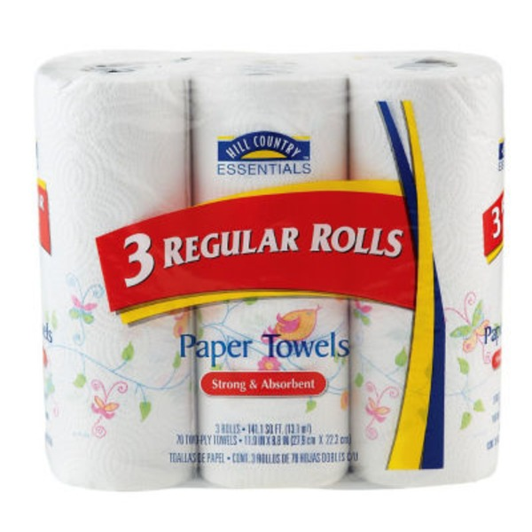 Hill Country Essentials Regular Rolls Paper Towels