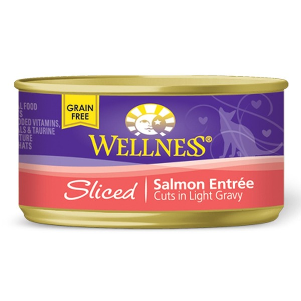 Wellness Sliced Salmon Canned Catfood Entree