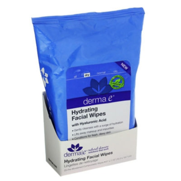 Derma E Hydrating Facial Wipes with Hyaluronic Acid