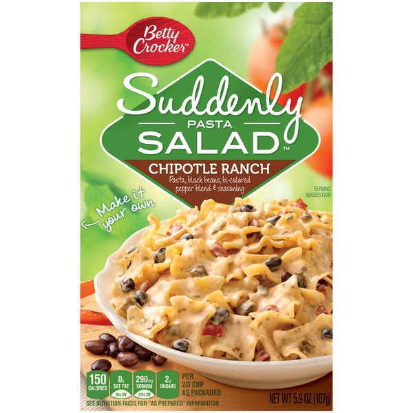 Betty Crocker Suddenly Salad Chipotle Ranch Pasta Salad