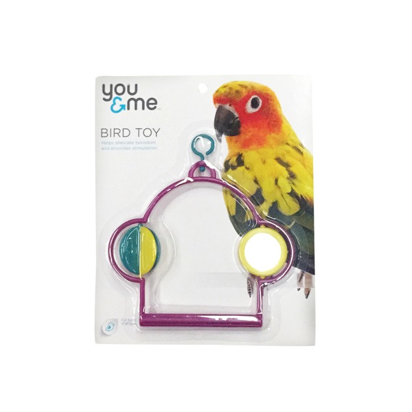 You & Me Swing With Mirror And Spinner Bird Toy