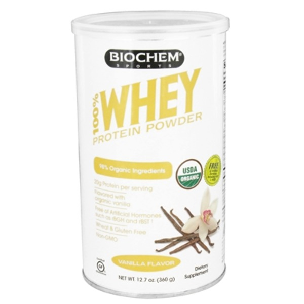 Biochem Sports Whey Protein Powder Vanilla Flavor