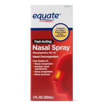 Equate Fast Acting Nasal Spray Solution, 1 Oz