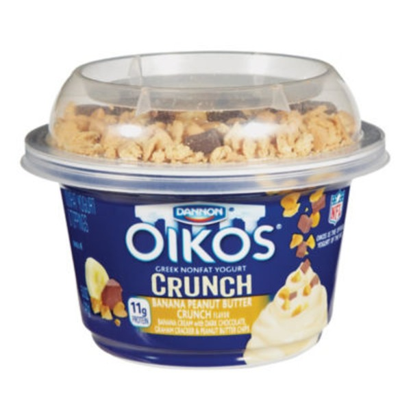 Dannon Oikos Single Serve Banana Peanut Butter Crunch Nonfat Greek Yogurt