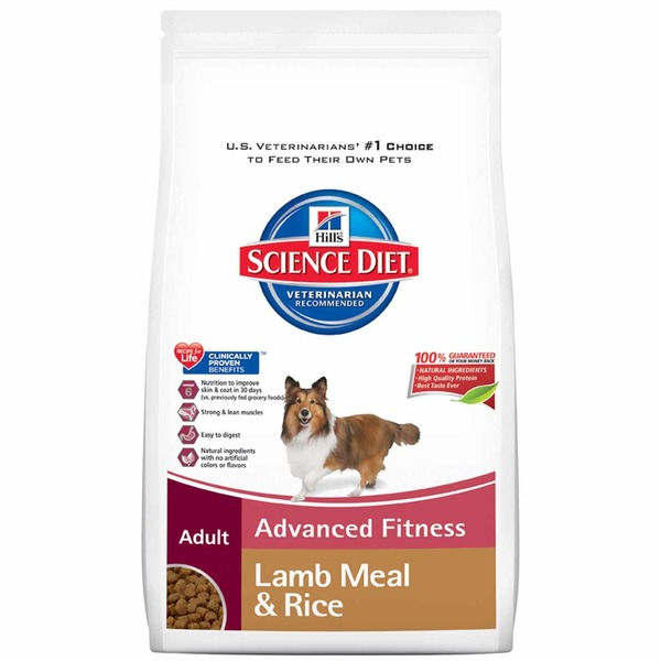 Hill's Science Diet Adult Advanced Fitness Lamb Meal & Rice Dog Food