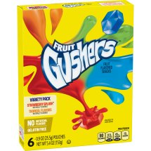 Betty Crocker Gushers Fruit Flavored Snacks Strawberry Splash and Tropical Flavors Variety Pack, 6 ct, 5.4 oz, 6.0 CT