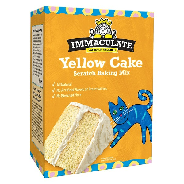 Immaculate Bakery Yellow Cake Scratch Baking Mix