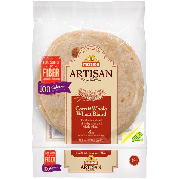 Mission Artisan Style Corn & Whole Wheat Blend Tortillas