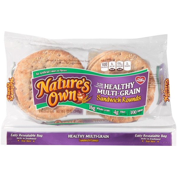 Nature's Own Healthy Multi-Grain Sandwich Rounds