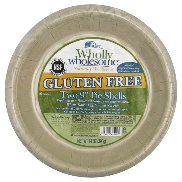 Wholly Wholesome Gluten Free 9 Inch Pie Shells