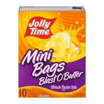 Jolly Time Microwave Pop Corn Mini Bags Blast O Butter Ultimate Theatre Style - 10 CT