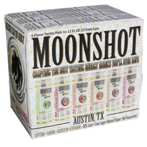 Moonshot Premium Energy Drink Variety Pack