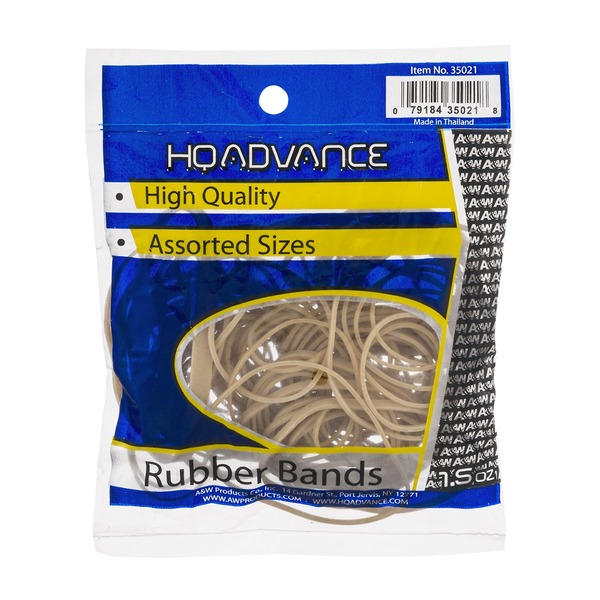 HQ Advance High Quality Rubber Bands Assorted Sizes