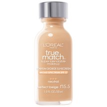 L'Oreal Paris True Match Super Blendable Makeup, N5.5 Perfect Beige ,1.0 fl oz