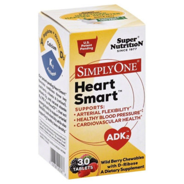 Super Nutrition Heart Smart, ADK2, Chewable Tablets, Wild Berry