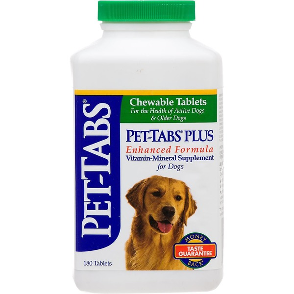 Pet Tabs Plus Daily Vitamin Mineral Dog Supplement
