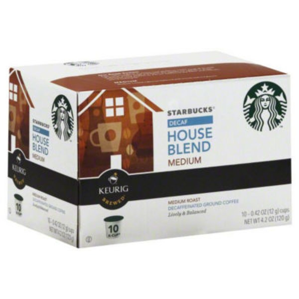 Starbucks Decaf House Blend Medium Roast K-Cups