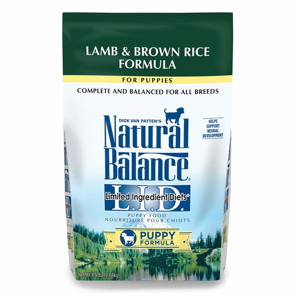 Natural Balance Lamb & Brown Rice Formula For Puppies