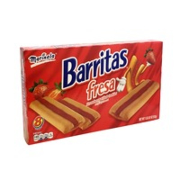 Marinela Barritas Fresa Strawberry Filled Cookies